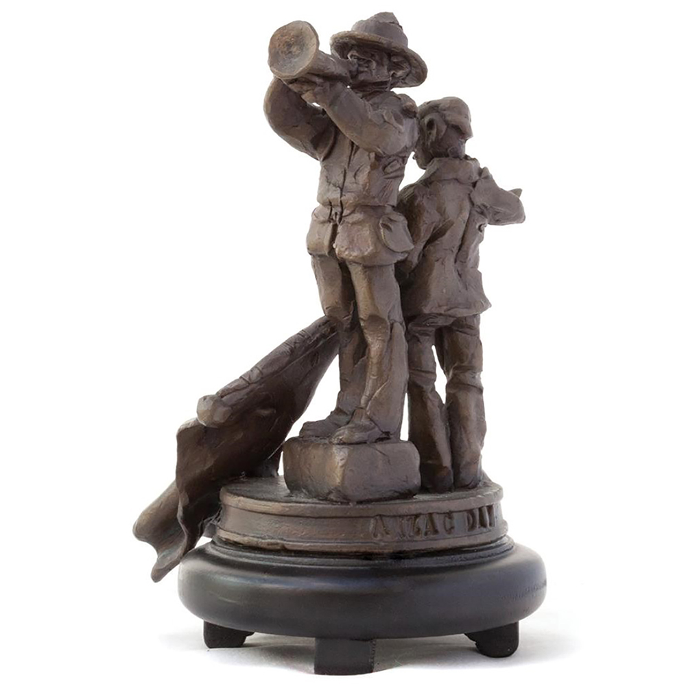 Ken Kendall Bronze sculpture from the ANZAC series Collection of Aratoi Wairarapa Museum of Art and History. Gift of Lady Helen Wilkins.