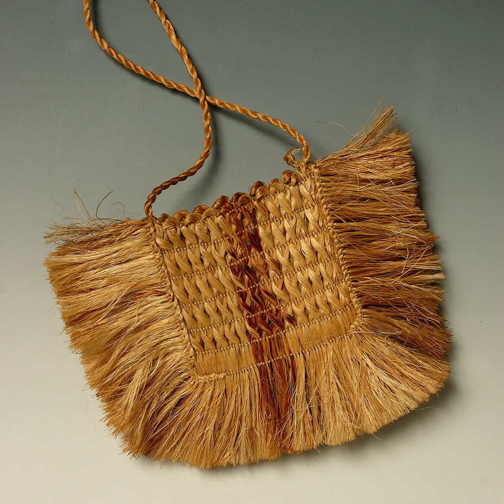 Kete, 19th C, Harakeke, Collection of Aratoi Wairarapa Museum of Art and History. Gift of Elizabeth Burden.